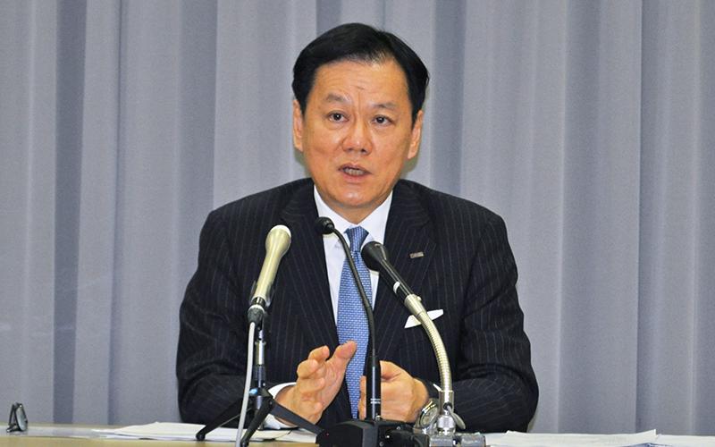 みずほフィナンシャルグループの坂井辰史社長、11月13日、都内